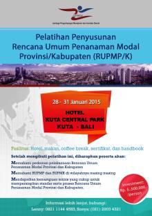 rencana umum penanaman modal RUPM RUPMK